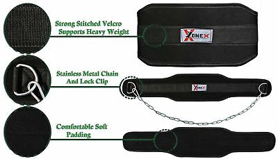 Weight Lifting Dipping Belt Body Building Chain Exercise Gym Training Neck Exerc