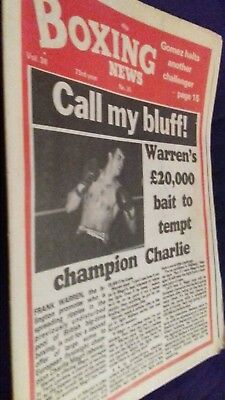 July 16Th 1982 Boxing News  Charlie Magri/ Max Schmeling