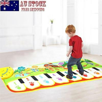 Baby Kids Crawling Mat Early Education Hand Foot Touchable Piano Music Blanket