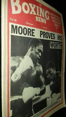 July 23Rd 1982 Boxing News  Davey Moore -Ayub Kalule/Johnny Mcgowan/Jim Higgins
