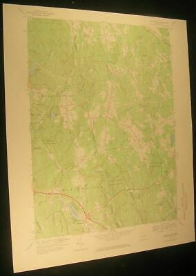 Marlborough Connecticut Farm Brook 1969 vintage USGS original Topo chart map