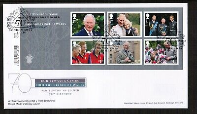 GB 2018 Prince Charles 70th Birthday Min Sheet FDC
