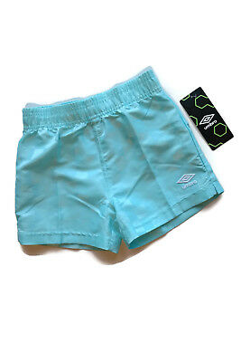 Umbro Turquoise Shorts Check Pattern Soccer Athletic Sports Youth L 6X [a1212]