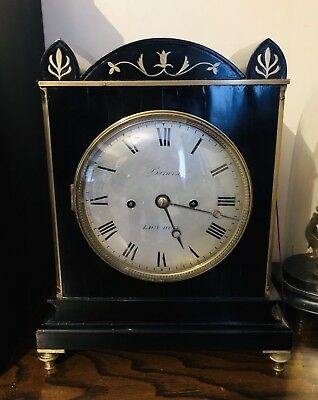 Twin Fusee London English Barwise antique bracket clock Twin Fusee Scarce
