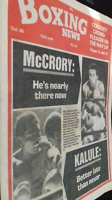 July 16Th 1982  Boxing News  Milton Mccrory-Roger Stafford/Ayub Kaluleo