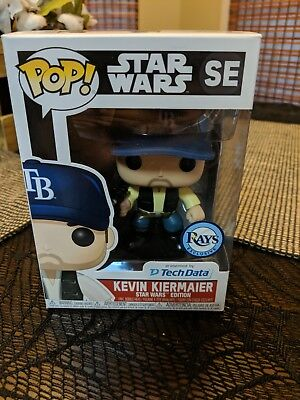 "Star Wars Han Solo Tampa Bay Rays Kevin Kiermaier 4"" Funko Pop - New"