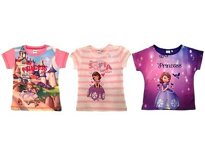 Disney Princess Sofia The First Summer Tops T Shirts Beach Holiday Gift Size