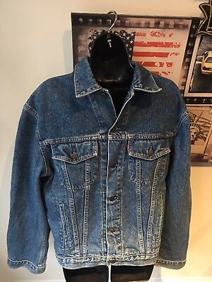 "Vintage Levis Trucker Denim Jacket Small 70503 02 Selvedge Red Tab Chest 42"" a6dd8a47d3fc"
