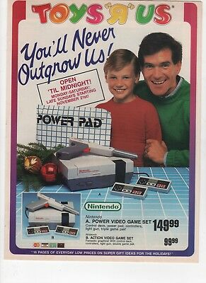 1988 - Toys R Us - Awesome - 16 Page Holiday Insert - Nes  - Vintage Print Ad