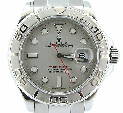 93cbfa5b3cf Rolex Yacht Master Mens Stainless Steel   Platinum Bezel Dial Watch 40mm  16622