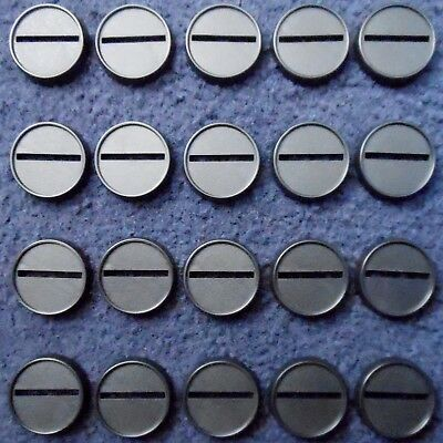 Reaper Bones 74032 25mm Round Gaming Bases x20 Lipped Black Plastic Base Scenery