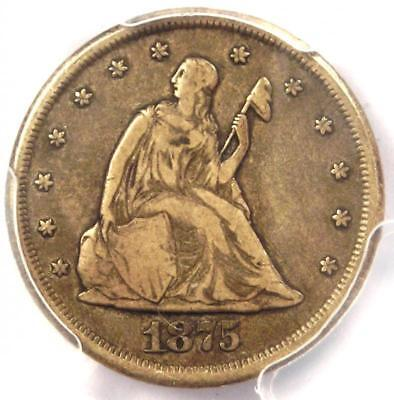 1875-CC Twenty Cent Coin 20C (Carson City) - Certified PCGS VF30 - $625 Value!