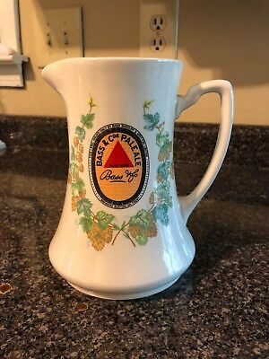 beswick england bass & co pale ale reproduction pottery pitcher breweriana