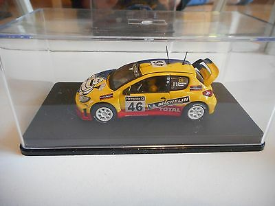 Ixo Peugeot 206 WRC #46 GB Rally 2002 V. Rossi in Yellow/Blue on 1:43 in Box
