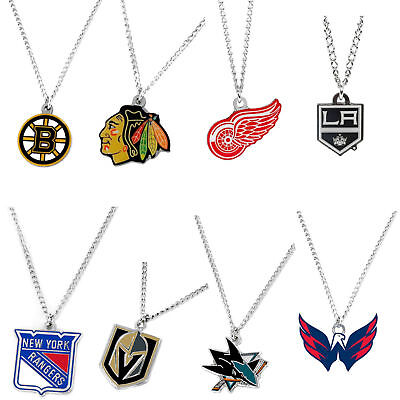 NHL logo necklace charm and chain pendant PICK A TEAM