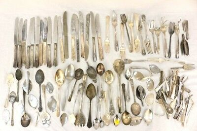 Lady Betty Silver Plate ++ Jewelry Arts & Crafts Silver Plated Flatware 8lbs+