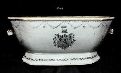 Grisaille Chinese Export Porcelain Tureen - Arms & Crest of Templar, c. 1775