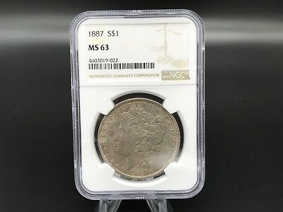 1887 Morgan Silver Dollar - NGC MS63 - UNCIRCULATED Nicely Toned - #083-064