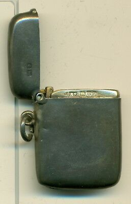 Sterling Silver Match Case Made in Chester in 1885