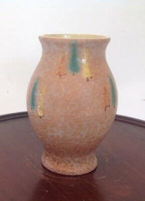 Vintage Mid-Century Modern Scheurich West Germany Fat Lava Pottery Trees Vase 5""