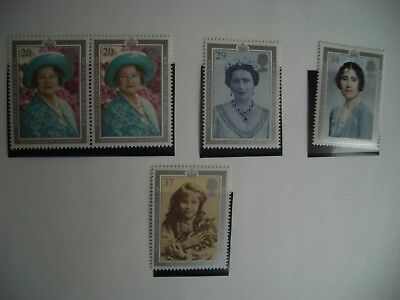 1990 Set 90th Birthday of Queen Mother MNH SG 1507-1510