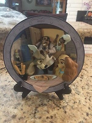 """Disney Lady and the Tramp. """"Bella Notte"""" collective 3d Plate limited w/ box"""