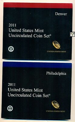 2011 U.S. Mint Set with 28 Philadelphia & Denver Uncirculated Mint Coins (OOAK)