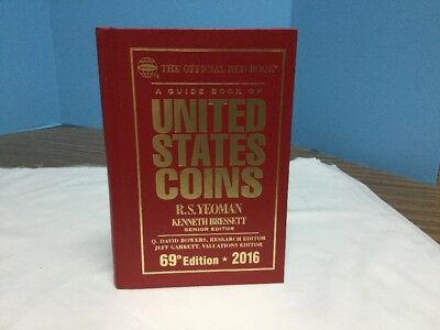 2016 Hardback - Red Book - U.S. Coins Price Guide, 69th Edition Whitman