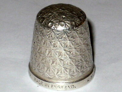 Antique Sterling Silver Thimble , H.g.& S.  The Spa , Made In England,  Size 18
