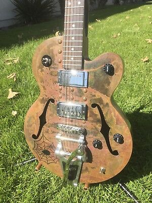 Normandy Zombie Copper Archtop Hollowbody Custom Guitar