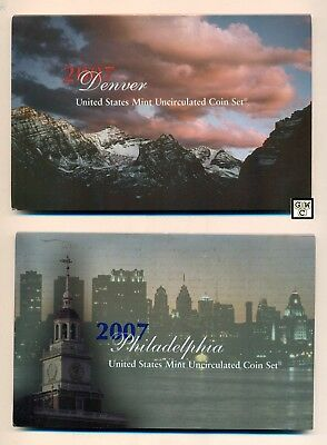 2007 U.S. Mint Set with 28 Philadelphia & Denver Uncirculated Mint Coins (OOAK)