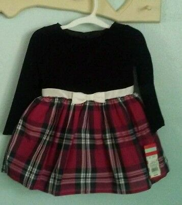 2T Girls Red And Black Dress New With Tag