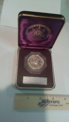 Cardinal Spellman Memorial Medal - solid silver sterling proof - with box