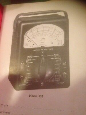 Triplet Model 630 Volt-OHM-Mil-ammeter Milammeter Instruction Manual