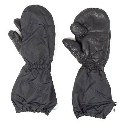 Swiss Army Mittens With Trigger Finger Military Leather Fur Lined Waterproof
