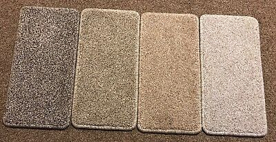 4 Carpet Stair Tread Mats Step Staircase Mat Protection Cover Pads - Beige Grey