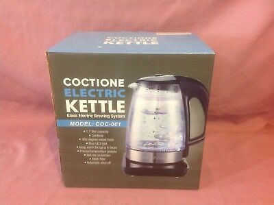 Electric Kettle COCTIONE Glass Digital Kettles Double Wall Cool Touch Cordless C