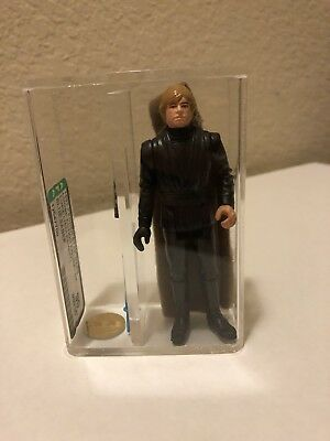 Jedi Luke Skywalker AFA 90 Kenner Vintage Star Wars Wow Blue Saber