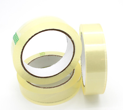 """CLEAR STRONG TAPE PACKAGING ROLLS PARCEL PACKING SELLOTAPE 1"""" 18mm x40m CELOTAPE"""