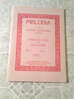 MELODIA/ by Cole &Lewis/1903,1904/Sight - Singing