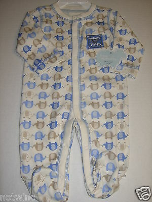 First Moments Infant Baby Boy's Sleeper Pajamas Mommy Loves Me Tons! 6 Months