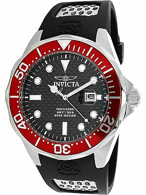 Invicta Men's Pro Diver 12561 Red Rubber Quartz Diving Watch