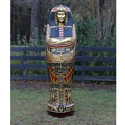 Queen Tut Life Size Sarcophagus Cabinet Statue Not King Gold Leaf Hand Made 6'