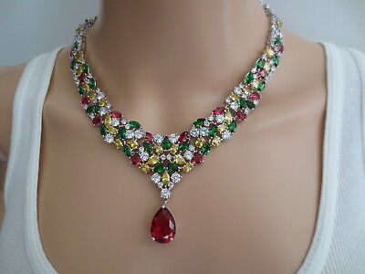 115 Carat Custom Made Socialites Collection Sterling Cz Look Of Fine Necklace