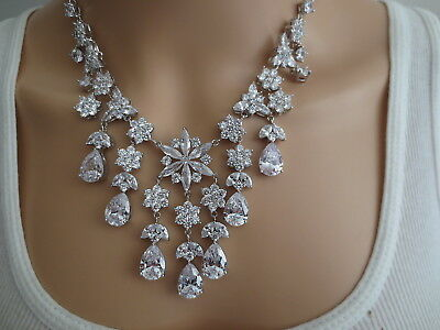 200 Carat Custom Made Socialites Collection Sterling Cz Look Of Fine Necklace