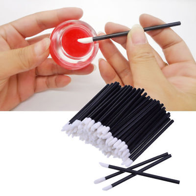 100X Lip Gloss Brush Disposable Wands Lipstick Eyelash Extension Removal Supply