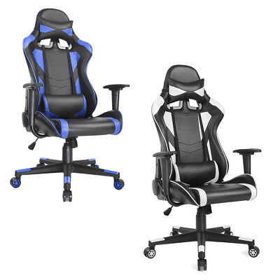 High Back Racing Gaming Chair PU Leather Office Computer Chair Adjustable