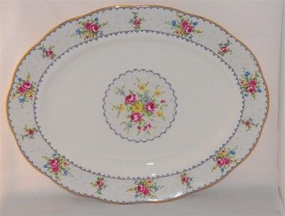 "Large Royal Petit Point 15"" Meat Platter ( England )"