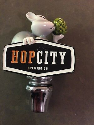 HOP CITY BREWING  IPA SQUIRREL/RABBIT BEER TAP HANDLE DRAFT PULL micro brew USED