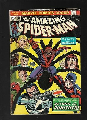 Amazing Spider-man 135 second appearance of Punisher